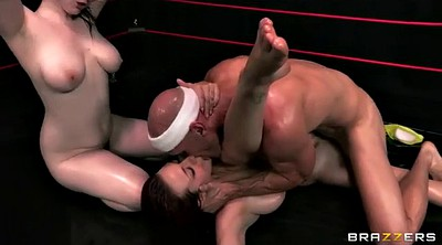Wrestling, Fight, Coach, Bbw threesome