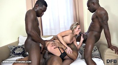 Black gangbang, Interracial double penetration, Double facial, Double blowjob, Double black