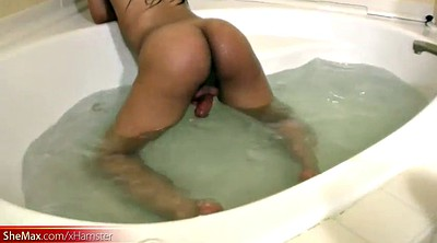 Bathroom, Teen black, Shemale black