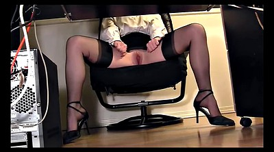 Flash, Skirt, Secretary, Desk, Blouse