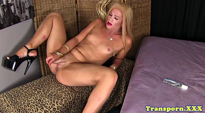 Trans, Shemale solo, Huge cock shemale