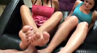 Footjob, Threesome feet