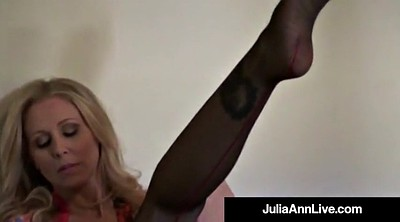 Julia ann, Julia, Anne, Blonde pantyhose
