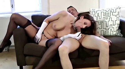 Mature, Stocking, Gloves, Satin, Mature stockings, Suck and swallow