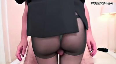 Footjob, Pantyhose fetish, Japanese pantyhose, Japanese black, Nylon footjob, Pantyhose footjob