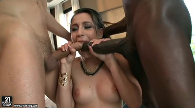 Mandingo, Doggy, White ass, Double blowjob, Cumshots, Mandingos