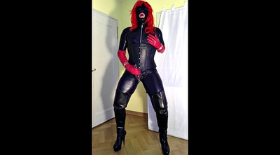 Crossdresser, Gloves, Latex shemale, Glove, Crossdress, Shemale latex
