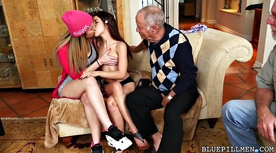 Old and young, Latina threesome