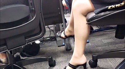 Candid, Nylon foot, Footing, Nylon fetish