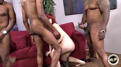 Monster cock, Monster, Redhead anal, Monster cock anal, Big tits doggy