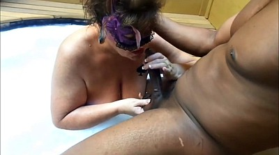 Bride, Interracial bbw wife, Tub