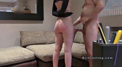 Casting anal, Tied up, British casting