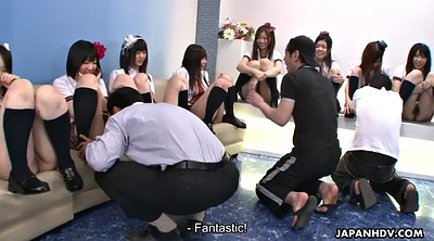 Girl, Japanese group, Japanese orgy, Asian college