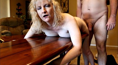 Housewife, Spanked, Mature wife, Table
