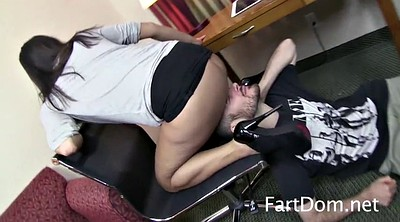 Farting, Facesitting, Asian femdom, Fart face