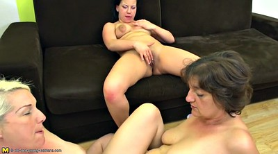 Mature, Mature young lesbian, Old mom