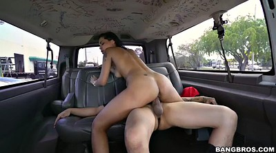 Car, Latina doggy fucking brunette, Paid