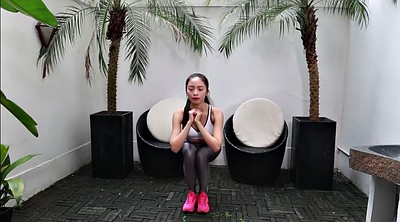 Asian pantyhose, Asian fetish, Asian gym