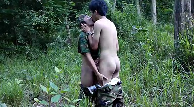 Asian solo, Asian outdoors, Twink young