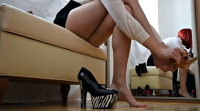 Stocking, High heels, High