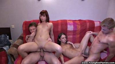 Foursome anal, Teen double, Amateur foursome
