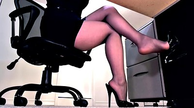 Footjob, Heels, Pantyhose foot, Pantyhose footjob
