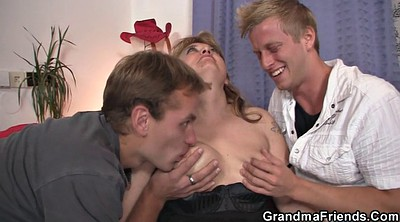 Mature, Pick up, Grannies, Hot granny, Mature and young, Granny threesome