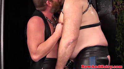 Leather, Hairy mature, Chubby gay