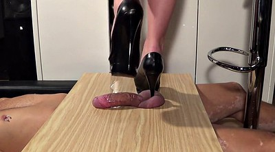 Trample, Mature feet, Ejaculation, Feet fetish, Handjob femdom, Trampling