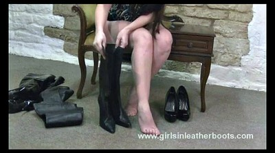Boots, Leather, Hot legs