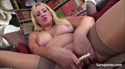 Masturbating, Blond milf