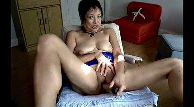 Asian mature, Granny dildo masturbation, Asian granny