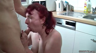 Threesome, Aunt, Young boys, Teen boy, Milf and boy, German threesome