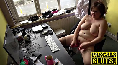 Handjob, Chubby solo, Short hair