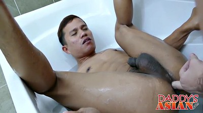 Asian daddy, Gay bathroom, Asian older