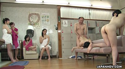 Japanese granny, Asian granny, Japanese group, Sauna, Spa, Japanese orgy