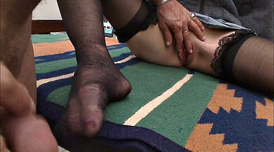 Nylon, Nylon foot, Big clit