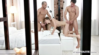 Anal threesome, Blindfold