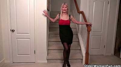 Mature nylon, Stairs, Claire, Nylons milf, Mature pantyhose, Granny pantyhose