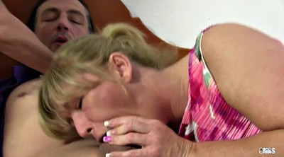 German mature, German granny, Granny threesome