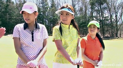 Golf, Japanese young, Vibrating, Japanese game, Japanese three, Young anal