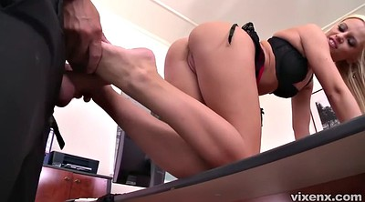 Office, Feet, Boss, Feet fuck, Secretary, Upskirt