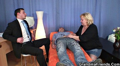 Mature threesome, Old granny
