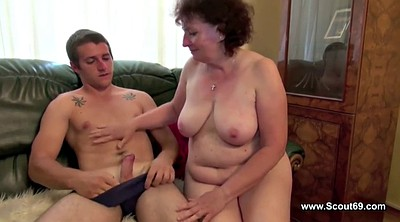 Young, Old mom, Mom boy, Mom and boy, Granny bbw