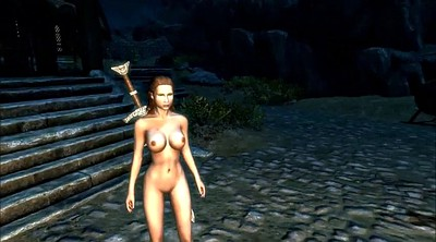 Cartoon, Slavegirl, Public anal, Skyrim