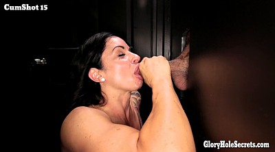 Glory hole, Interracial blowjob, Excited