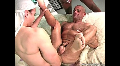 Muscle man, Interracial, Ebony white, Black and white