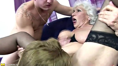 Old and young, Amateur mature, Granny mom