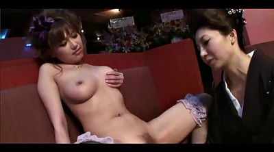 Japanese lesbian, Long hair, Pink pussy, Pink