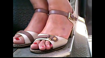 Bus, Feet mature, Mature feet